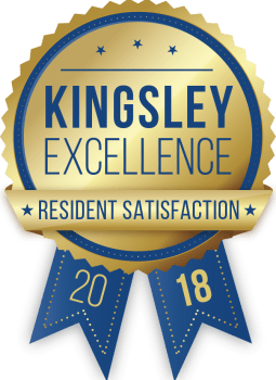 Aberdeen Apartments in Lawrence, Kansas received a Kingsley Excellence Residents Satisfaction 2018 award