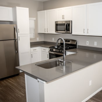 Updated kitchen appliances at Madrid Apartments