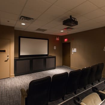 Private cinema at Metropolitan Towers in Vancouver