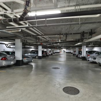 Underground parking at Larchway Gardens in Vancouver