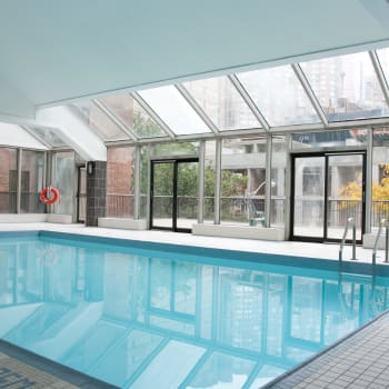 Indoor swimming pool at 57 Charles at Bay in Toronto