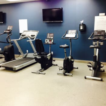 Fitness center at 57 Charles at Bay
