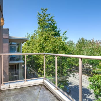 Private balcony at Dunway Court in Vancouver