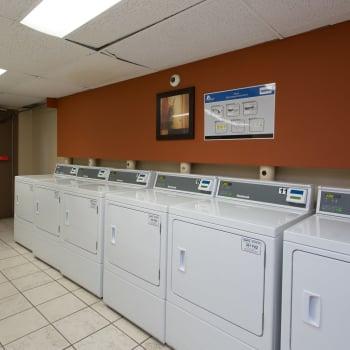 Laundry facility at Royal View Apartments in Calgary