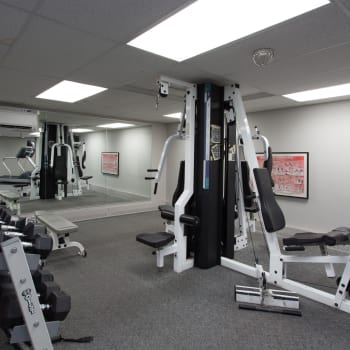 Fitness center at Royal View Apartments in Calgary