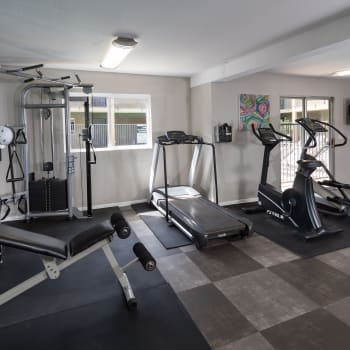 Fitness center at Legacy at Westglen