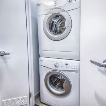 Washer and dryer at 57 Charles at Bay in Toronto