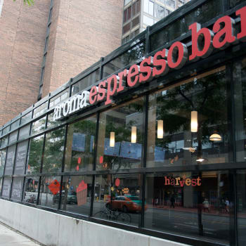 Espresso shop near 57 Charles at Bay in Toronto