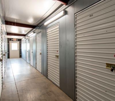 Hallway of storage units at Storage Inns of America in Dayton, Ohio
