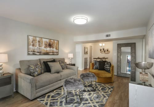 Corporate Units Living Space at The Mayfair Apartment Homes in New Orleans LA