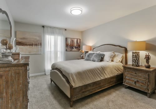 Corporate Units Bedroom at The Mayfair Apartment Homes in New Orleans LA