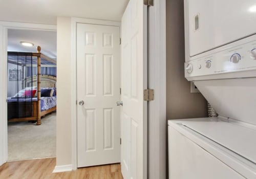 Energy efficient washer and dryer at Summerfield Apartment Homes in Harvey, Louisiana