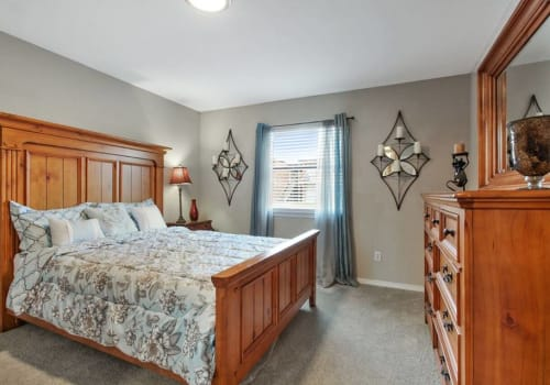 Upgraded Bedroom at Summerfield Apartment Homes in Harvey, Louisiana