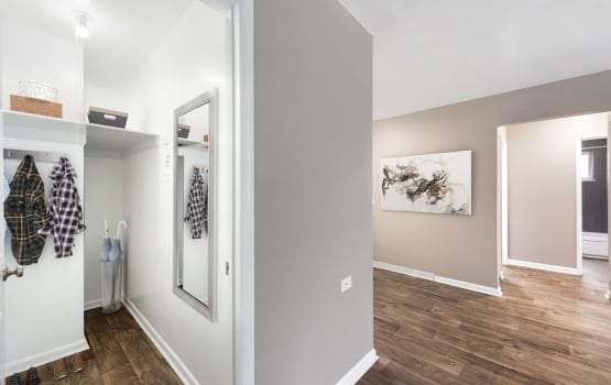 Asbury Plaza in Denver, Colorado offers apartments with walk-in closets