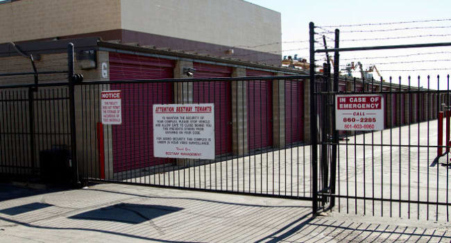 Front gate at Storage Etc... Salt Lake
