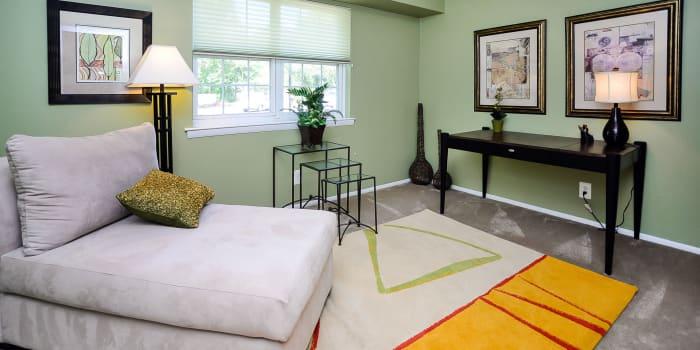 Model room at Moorestowne Woods Apartment Homes in Moorestown, NJ