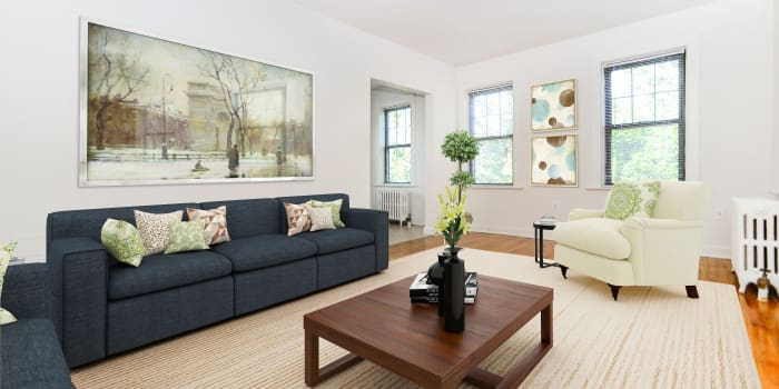 Open living space at Hillside Gardens Apartment Homes