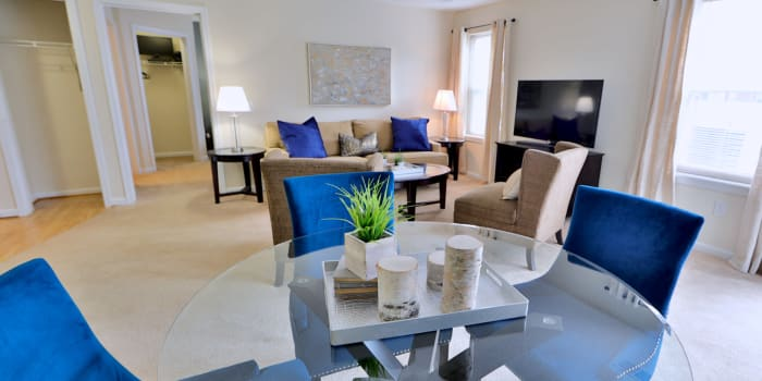 The Apartments at Diamond Ridge offers a dining room in Baltimore, MD