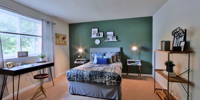 Bedroom at Willow Run at Mark Center Apartment Homes