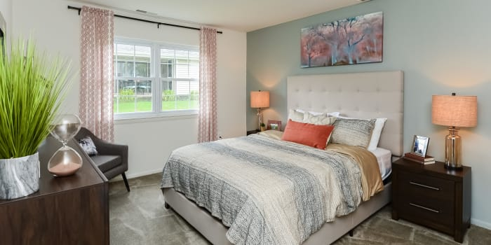 Ample closet space provided in a bedroom at Forge Gate Apartment Homes in Lansdale, PA