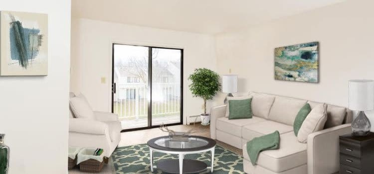 Spacious living room at Penbrooke Meadows