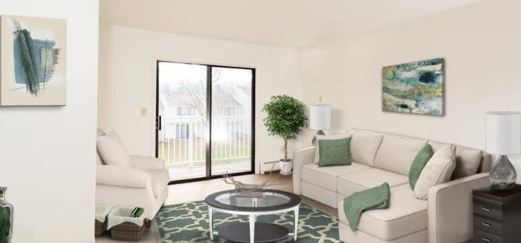 Spacious living room at Penbrooke Meadows Apartments