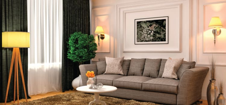 Modern living room at The Elms of Bloomfield in Bloomfield, NY