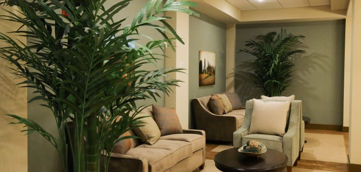 Comfortable common areas at Merrill Gardens at Solivita Marketplace