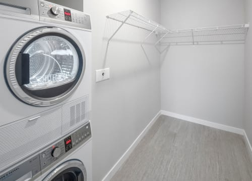 In-home washer and dryer at Division Terrace in Portland, Oregon