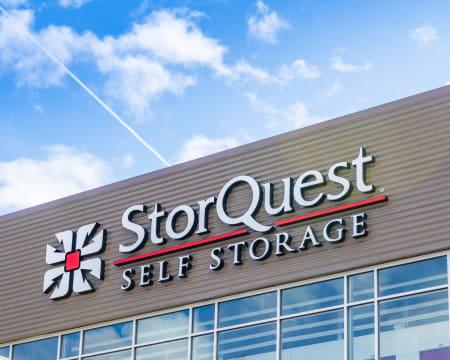 Signage of StorQuest Self Storage in Bothell, Washington