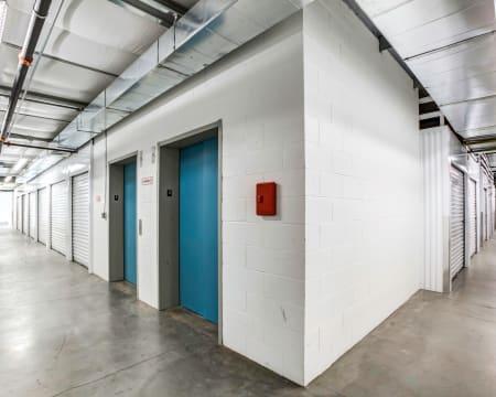 Interior storage units at StorQuest Self Storage in Buckeye, Arizona