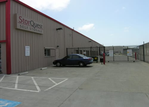 Gated entrance at StorQuest Self Storage in Richmond, California