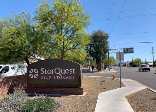 Front view of StorQuest Self Storage in Phoenix, Arizona