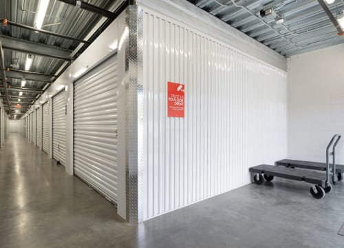Interior storage units of StorQuest Self Storage in Vista, California