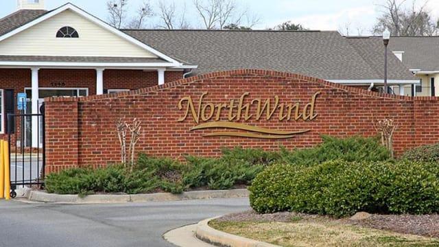 Entrance Sign at Northwind Apartments in Valdosta, GA