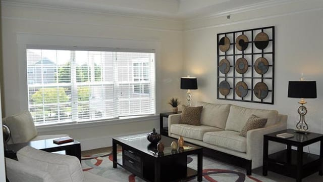 Northwind Apartments offers a naturally well-lit living room in Valdosta, GA