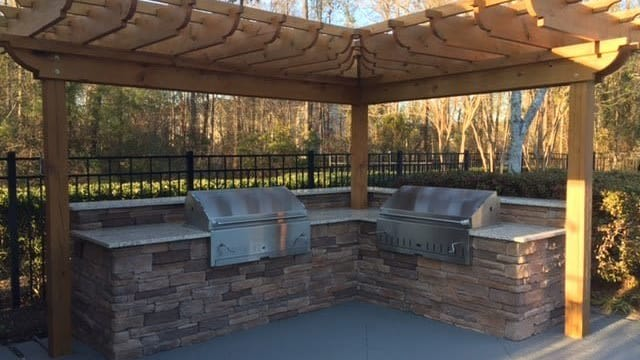 Grilling area at Polo Village in Columbia, SC