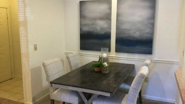 Dining area at apartments in Greensboro, NC