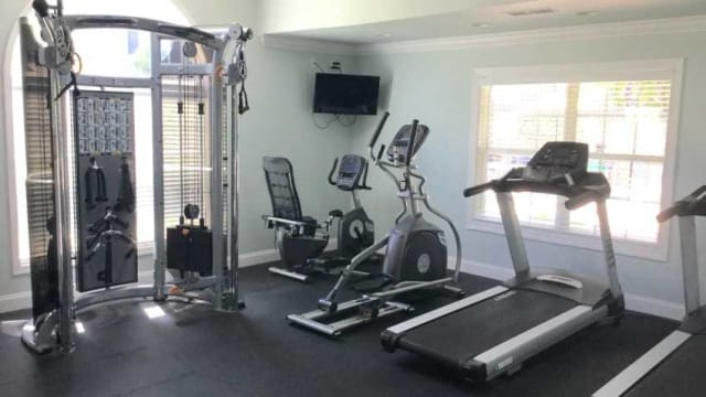 Fitness center at The Enclave at Deep River in Greensboro, NC