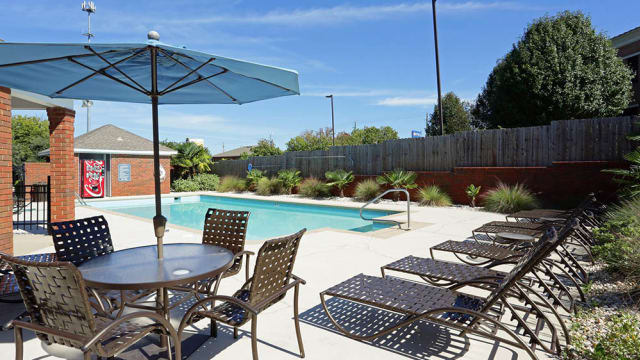 Beautiful swimming pool at apartments in Montgomery, AL