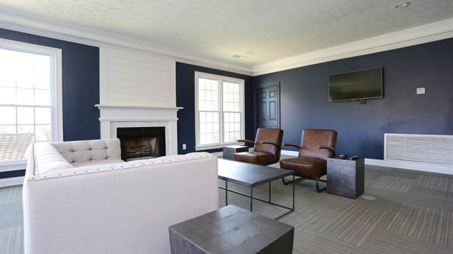 Luxury living room at Halcyon Park Apartments in Montgomery, AL