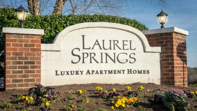 Sign at Laurel Springs in High Point, North Carolina
