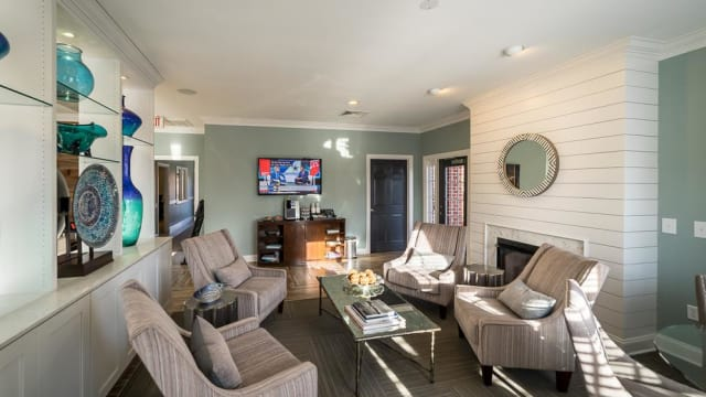 Living room at Laurel Springs in High Point, North Carolina