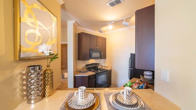 Kitchen amenities at Integra Landings in Orange City, Florida
