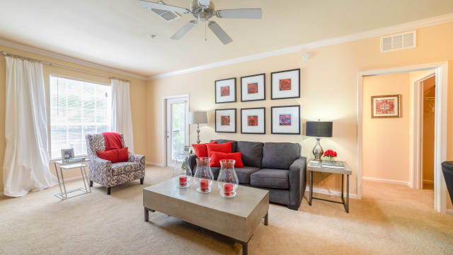 Enjoy apartments with a living room at Integra Landings in Orange City, Florida