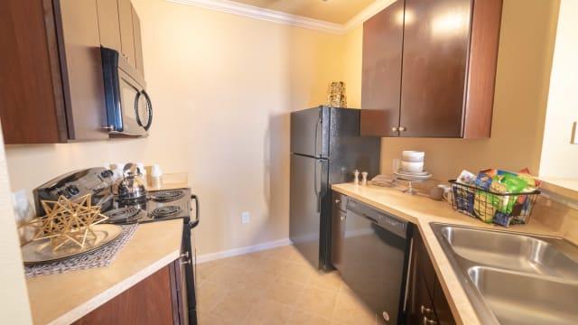 Luxury kitchen at Integra Landings in Orange City, Florida
