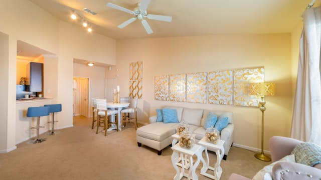 Living room at Integra Landings in Orange City, Florida