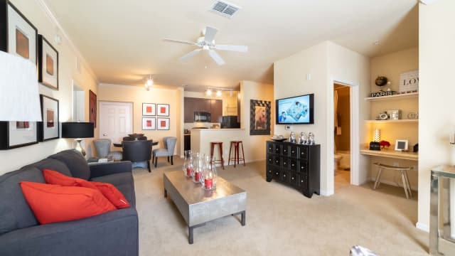Living room at Integra Landings in Orange City, Florida