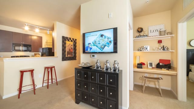 Apartments with a living room at Integra Landings in Orange City, Florida