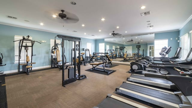 Fitness center at Integra Landings in Orange City, Florida